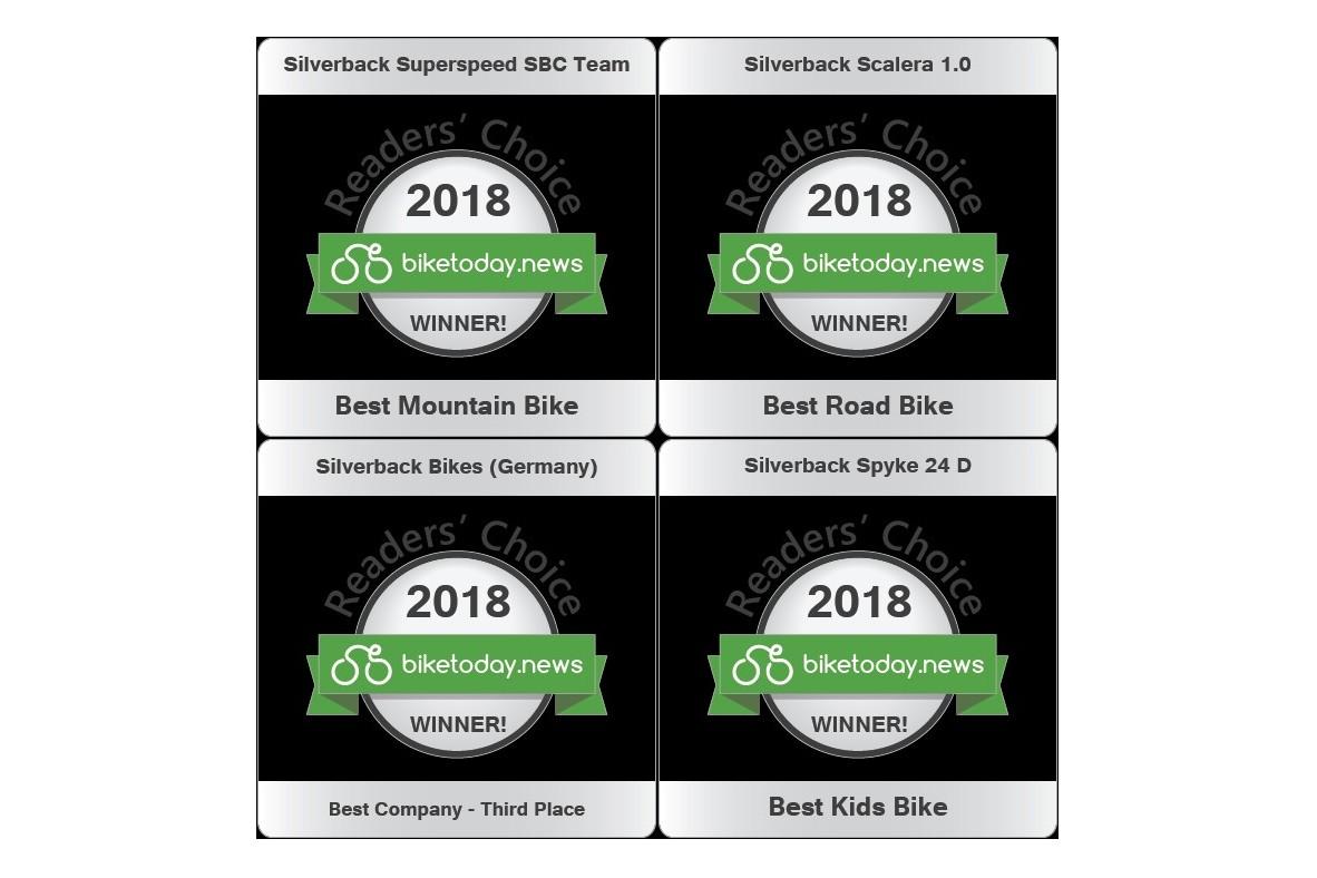 """Silverback câștigă premiul """"Alegerea cititorilor 2018"""", acordat de revista BikeToday"""